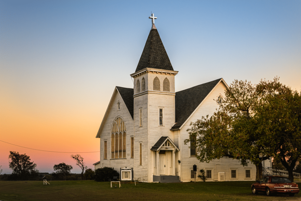 St. Paul's United Church of Christ in Rural Falls County, Texas
